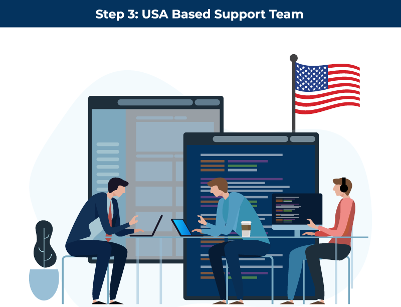Step 3 USA Based Support Team